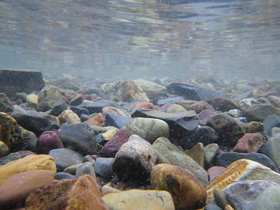 Under The Water In Glacier  Art Print