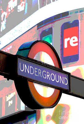 Photograph - Underground At Piccadilly Circus by Chris Dutton