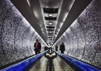Lights In Tunnel Photograph - Underground Network by Evelina Kremsdorf
