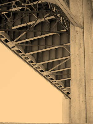 Underside Of 6th Street Bridge Art Print by Kevin  Break