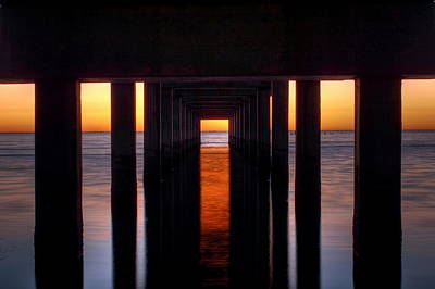 Underside Of The Pier Print by Pixel Perfect by Michael Moore
