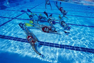 Underwater Hockey Art Print by Alexis Rosenfeld