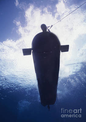 Movies Star Paintings - Underwater View Of A Mk-8 Mod-0 Seal by Michael Wood