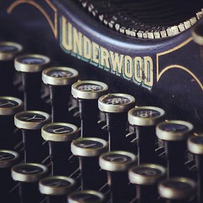 Typewriter Wall Art - Photograph - Underwood by Kim Szyszkiewicz