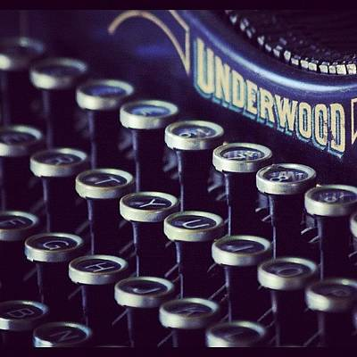 Typewriter Wall Art - Photograph - #underwood #typewriter #vintage #keys by Kim Szyszkiewicz
