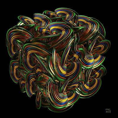 Digital Art - Undulations by Manny Lorenzo