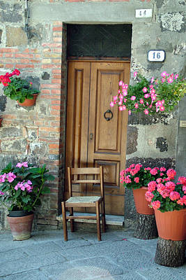 Photograph - Uneven Tuscan Doorway by Donna Corless