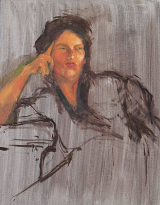 Unfinished Portrait Art Print by Becky Kim