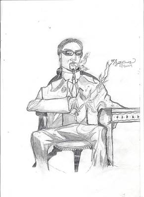 Drawing - Unfinished Snoop Dogg by Justin Chase