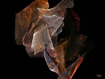 Art Print featuring the digital art Unfolding by John Pangia