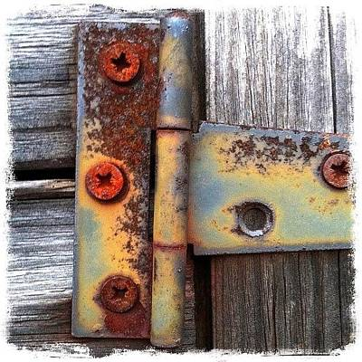 Rust Photograph - Unhinged by Mark B