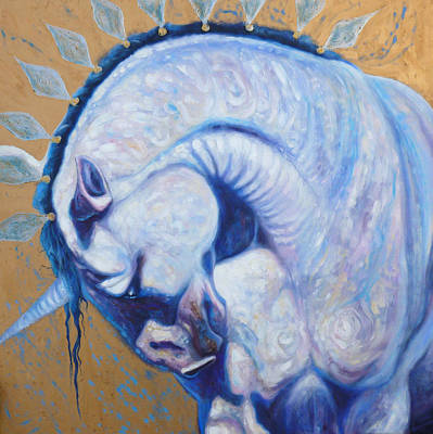 Unicorn King Art Print by Gill Bustamante