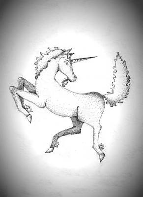 Drawing - Unicorn by Wendy McKennon