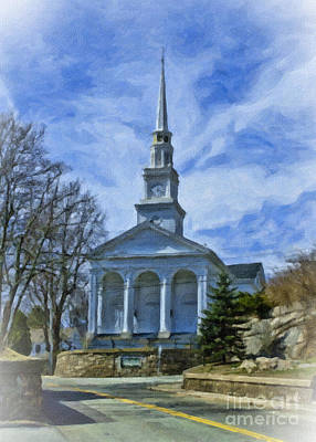 Baptist Mixed Media - Union Baptist Church by Edward Sobuta