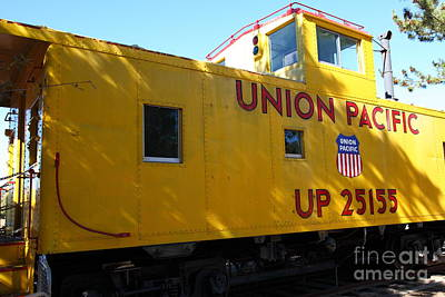 Old Cabooses Photograph - Union Pacific Caboose - 5d19205 by Wingsdomain Art and Photography