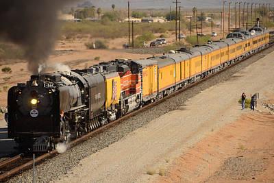 Union Pacific Grand Canyon State Steam Special Train Picacho Arizona November 15 2011 Art Print by Brian Lockett