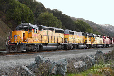 Union Pacific Locomotive Trains . 7d10565 Print by Wingsdomain Art and Photography