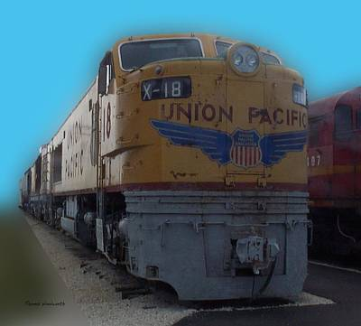 Union Pacific X 18 Train Art Print by Thomas Woolworth