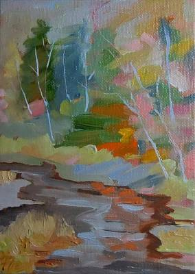 Painting - Union River Gold by Francine Frank