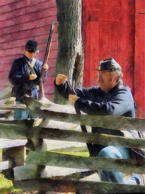 Photograph - Union Soldier Loading Rifle by Susan Savad