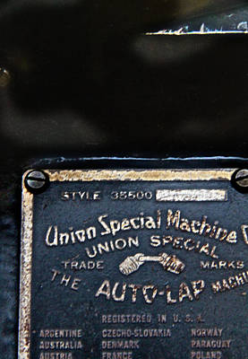Union Special Art Print by Odd Jeppesen