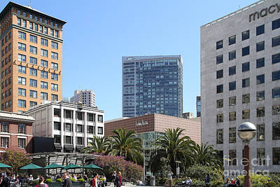 Union Square San Francisco Art Print by Wingsdomain Art and Photography