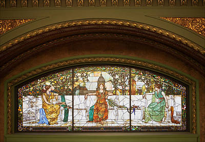 Photograph - Union Station Stained Glass by David Coblitz