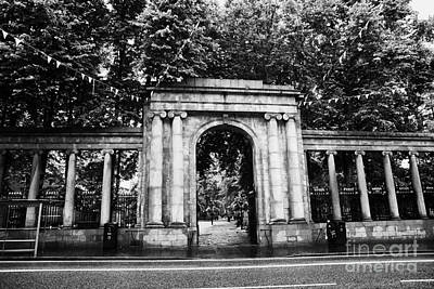 union street facade to the old kirkyard churchyard o the kirk of St Nicholas aberdeen scotland uk Art Print by Joe Fox