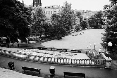 Union Terrace Photograph - Union Terrace Gardens Aberdeen City Centre On A Dull Wet Day Scotland Uk by Joe Fox