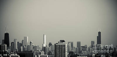 Photograph - Unique Buildings In Chicago Skyline   by Linda Matlow