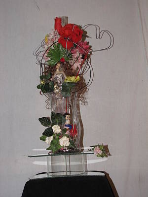 Unique Glass Floral Art Piece Art Print by HollyWood Creation By linda zanini