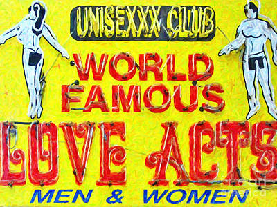 Photograph - Unisexxx Club by Wingsdomain Art and Photography
