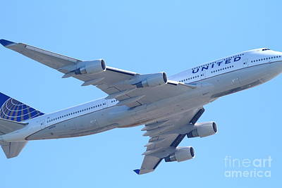 United Airlines Boeing 747 . 7d7838 Art Print by Wingsdomain Art and Photography