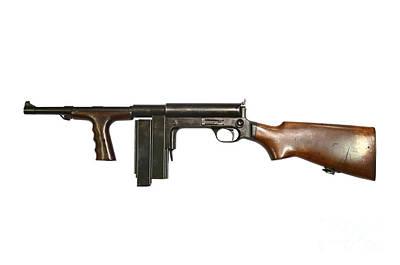 United Defense M42 Submachine Gun Art Print by Andrew Chittock