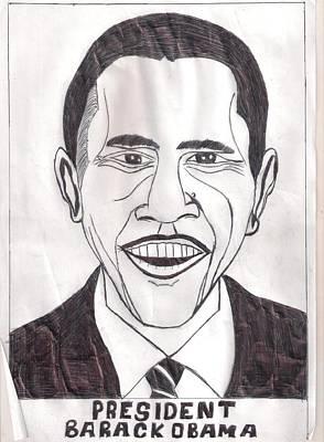 United State President Barack Obama Print by Ademola kareem oshodi