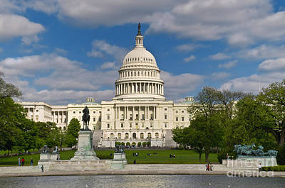 United States Capitol Art Print by Jim Moore