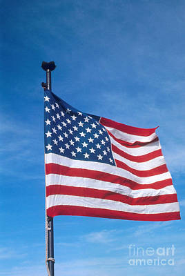 United States Flag Art Print by Photo Researchers, Inc.
