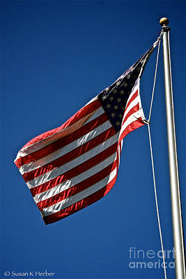 Photograph - United States Flag by Susan Herber