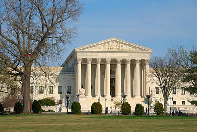 Print featuring the photograph United States Supreme Court by Steven Richman