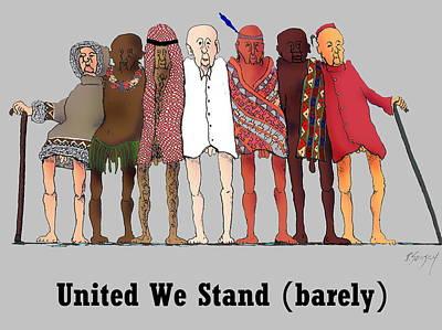 United We Stand Art Print by R  Allen Swezey