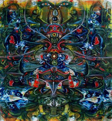Unity And Duality Art Print by Edward Ofosu