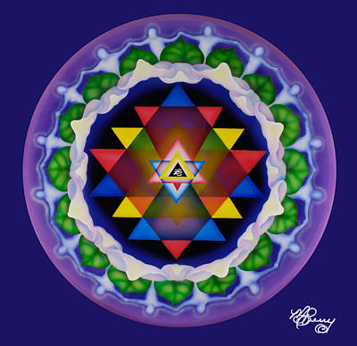 Unity Painting - Unity Mandala-all For One... by Marcia  Perry