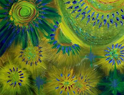 Universe Of Color Art Print by Evelyn SPATZ