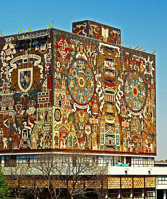 Photograph - Universidad Nacional De Mexico - World's Largest Mosaik by Juergen Weiss