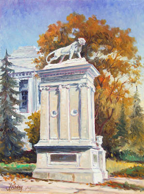 Notre Dame Painting - University City Lions In St.louis by Irek Szelag