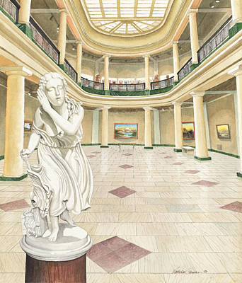 University Of Michigan Painting - University Of Michigan Art Museum by Katherine Larson