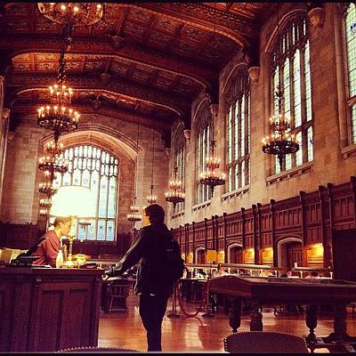 Victorian Wall Art - Photograph - University Of Michigan Law Reading Room by Nish K.