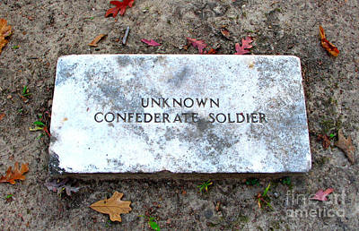 Photograph - Unknown Confederate Soldier by Renee Trenholm
