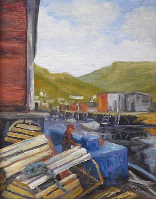 Unloading Art Print by M J Weber