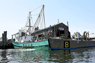 Photograph - Unloading The Bunker Boat by Mary Haber